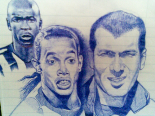 Cartoon: football stars (medium) by Pajo82 tagged football,stars