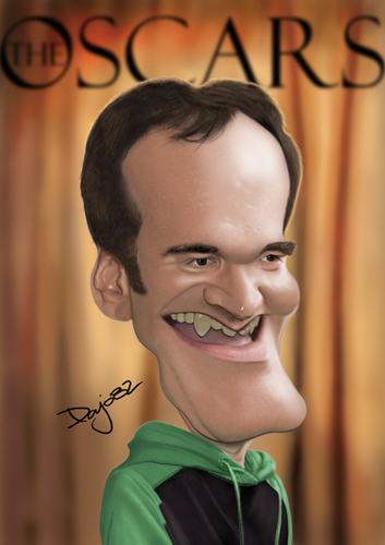 Cartoon: Quentin Tarantino (medium) by Pajo82 tagged tarantino