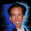 Cartoon: Nicholas Cage (small) by Pajo82 tagged nicholas cage