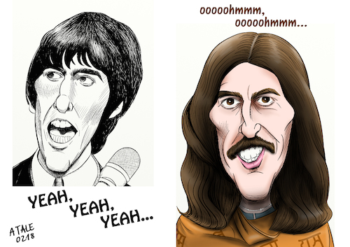 Cartoon: George Harrison (medium) by A Tale tagged george,harrison,the,beatles,musiker,gitarrist,solokarriere,my,sweet,lord,here,comes,sun,pop,england,liverpool,sixtiees,indien,esoterik,porträt,karikatur,caricature,zeichnung,illustration,tale,agostino,natale,george,harrison,the,beatles,musiker,gitarrist,solokarriere,my,sweet,lord,here,comes,sun,pop,england,liverpool,sixtiees,indien,esoterik,porträt,karikatur,caricature,zeichnung,illustration,tale,agostino,natale