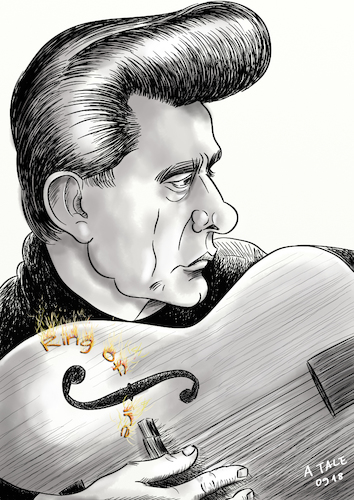 Johnny Cash Karikatur