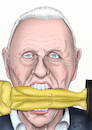 Karikatur Anthony Hopkins