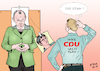 Cartoon: Make CDU great again ? (small) by A Tale tagged rücktritt,ankündigung,cdu,parteivorsitz,annegret,kramp,karrenbauer,nachfolge,debatte,kanzlerkandidatur,kandidaten,friedrich,merz,jens,spahn,achim,laschet,diskussion,richtung,kontinuität,merkel,liberal,moderat,rechtsruck,konservativismus,werteunion,stimmenverluste,volkspartei,politik,karikatur,cartoon,pressezeichnung,illustration,tale,agostino,natale