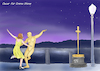 Cartoon: La La Land (small) by A Tale tagged oscar verleihung awards 2017 beste schauspielerin emma stone lala land musical best actress motion picture academy hollywood statue tanzen tanzfilm movie film kino cinema show business karikatur cartoon illustration tale agostino natale