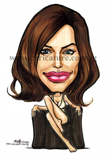 Caricature Angelina Jolie By Jit Famous People Cartoon Toonpool