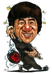 Cartoon: Caricature of Jackie Chan (medium) by jit tagged caricature,jackie,chan,drunken,master,