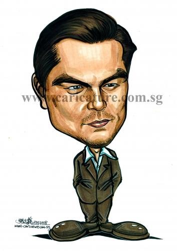 Caricature of Leonardo Dicaprio By jit | Famous People Cartoon ...