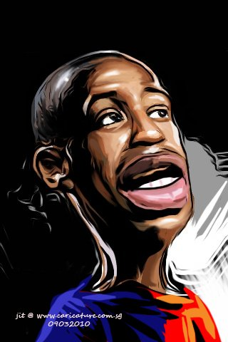 Cartoon: Caricature of Thierry Henry (medium) by jit tagged caricature,of,thierry,henry,drawn,with,iphone
