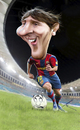 Cartoon: Lionel Messi (small) by besikdug tagged lionel messi besikdug georgia karikature argentine fc barcelona