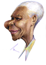 Cartoon: Nelson Mandela (small) by besikdug tagged besik dug georgia karikatura mandela nelson