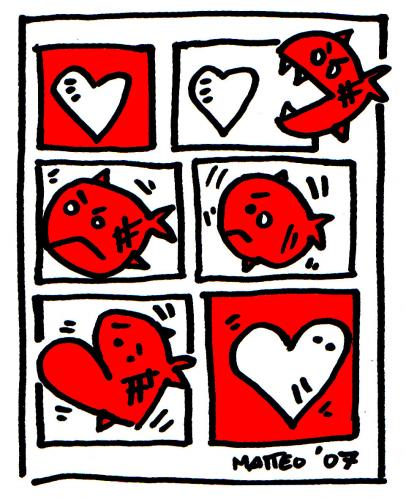Cartoon: amore (medium) by matteo bertelli tagged illustration,