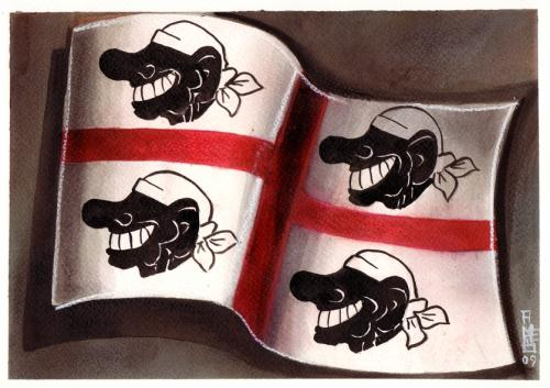 Cartoon: New Sardinia flag (medium) by matteo bertelli tagged sardinia,italy,berlusconi,bandana,illustration,silvio berlusconi,italien,sardinien,flagge,nation,politiker,bandana,silvio,berlusconi