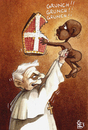 Cartoon: hunger (small) by matteo bertelli tagged hunger,bertelli,pope,ratzinger