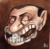 Cartoon: the Milan cathedral (small) by matteo bertelli tagged berlusconi,cathedral,foolish,bertelli