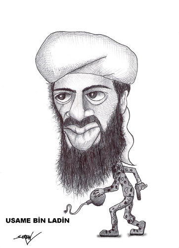 Osama Bin Laden and gang. Osama Bin Laden Cartoon.
