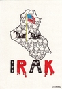 Cartoon: IRAQ (small) by serkan surek tagged surekcartoons