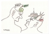 Cartoon: PEACE and WAR MEN (small) by serkan surek tagged surekcartoons