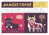 Cartoon: JANGO COMIX - BULL (small) by jangojim tagged jango,comix,cartoon,jangojim,antwerp,belgium,berlin,kreuzberg,bull,viking,cloud,thunder,lightning,disguise,camouflage