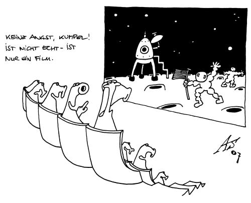 moon landing By alex   Media & Culture Cartoon   TOONPOOL