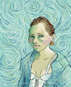 Cartoon: La vie ne nous sourit pas a tous (small) by noparainnita tagged van,gogh,lesbian,portrait,painter,1889,homage,no,para,innita