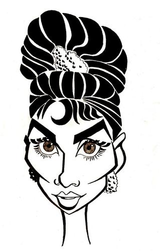 Audrey Hepburn By Xavi Caricatura Famous People Cartoon Toonpool