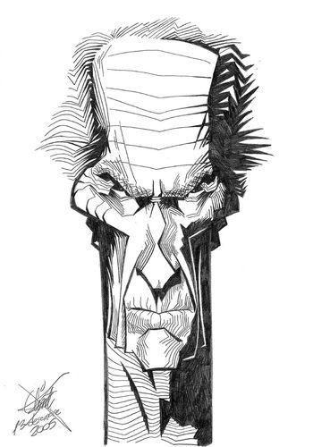 clint eastwood by xavi caricatura