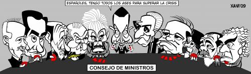 Consejo de ministros by xavi caricatura politics cartoon for Clausula suelo consejo de ministros