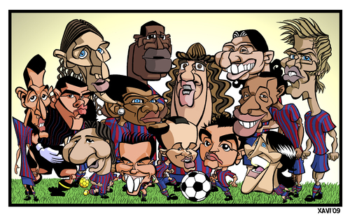barcelona fcb. Cartoon: FC Barcelona 2010