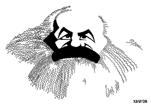 Cartoon: Karl Marx (medium) by Xavier Salvador tagged marx,karl,comunism,philosophy