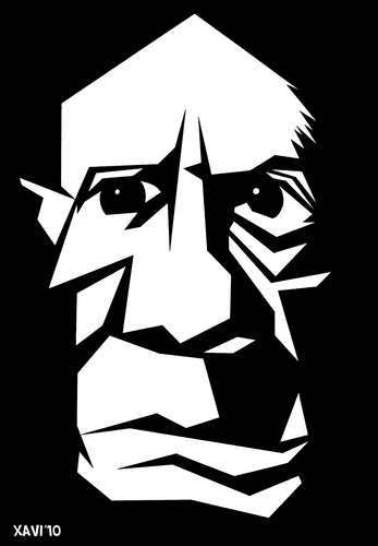 pablo picasso by xavi caricatura media culture cartoon. Black Bedroom Furniture Sets. Home Design Ideas