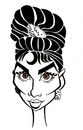 Cartoon: Audrey Hepburn (small) by Xavi Caricatura tagged audrey,hepburn,hollywood,star,cinema,film,actress,oscar