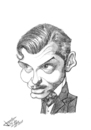 Cartoon: Clark Gable (small) by Xavi Caricatura tagged clark,gable,hollywood,cinema,film,star,oscar