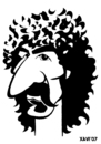 Cartoon: Frank Zappa (small) by Xavi Caricatura tagged frank zappa rock music
