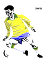 Cartoon: Garrincha (small) by Xavi Caricatura tagged garrincha,football,futebol,brazil,brasil,botafogo,soccer,world,cup,drawing,art