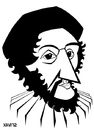 Cartoon: Guy de Chauriac (small) by Xavi Caricatura tagged guy,de,chauriac,medicine,doctor,history,caricature,cartoon