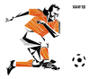 Cartoon: Johan Neeskens (small) by Xavi Caricatura tagged johan,neeskens,netherlands,oranje,football,soccer,futbol,holanda,1974,world,cup