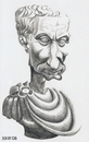Cartoon: Julius Caesar (small) by Xavi Caricatura tagged julius caesar roma empire history cesar republica