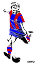Cartoon: Ladislao Kubala (small) by Xavi Caricatura tagged kubala ladislao barcelona futbol football soccer sport