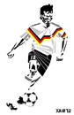 Cartoon: Lothar Matthaus (small) by Xavi tagged lothar matthaus bundesliga germany bayern munchen football soccer futbol fussball