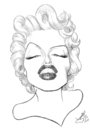 Cartoon: Marilyn Monroe (small) by Xavi Caricatura tagged marilyn monroe cinema film hollywood star actress
