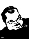 Cartoon: Orson Welles (small) by Xavi Caricatura tagged orson,welles,director,cinema,hollywood,star,oscar,citizen,kane