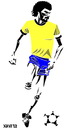 Cartoon: Socrates (small) by Xavi Caricatura tagged socrates futebol football soccer brasil brazil corinthians sport