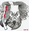 Cartoon: Sweeney Todd - Johnny Depp (small) by Xavi Caricatura tagged sweeney,todd,johnny,depp,tim,burton,hollywood,blood