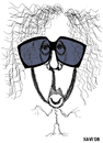 Cartoon: Tim Burton (small) by Xavi Caricatura tagged tim,burton,hollywood,director,star,oscar,cinema,film
