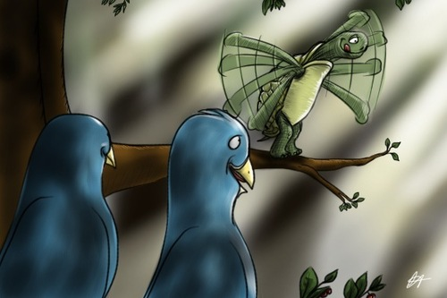 Cartoon: Fly little turtle (medium) by cesar mascarenhas tagged turtle,twitter,woods,light,birds