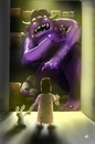 Cartoon: Child Imagination (small) by cesar mascarenhas tagged child,monster,closet,armario,crianca,monstro,ipod,touch