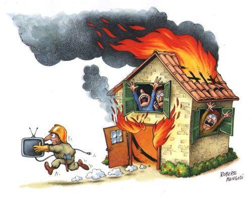 House fire cartoon