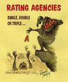 Cartoon: Rating Agencies (small) by Roberto Mangosi tagged rating,economy,agencies,agency,aaa