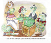 Cartoon: The House Always Wins (small) by viconart tagged poker,money,fraud,chameleon,politics,game,pope,cartoon,viconart