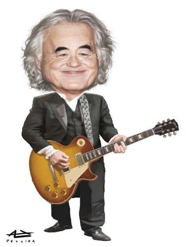 Cartoon: Jimmy Page (medium) by Alex Pereira tagged jimmy,page,led,zeppelin